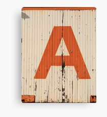 A for Avenge Canvas Print