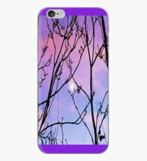 purple sunset with moon iPhone Case