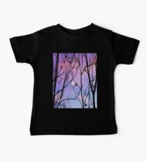 purple sunset with moon Baby Tee