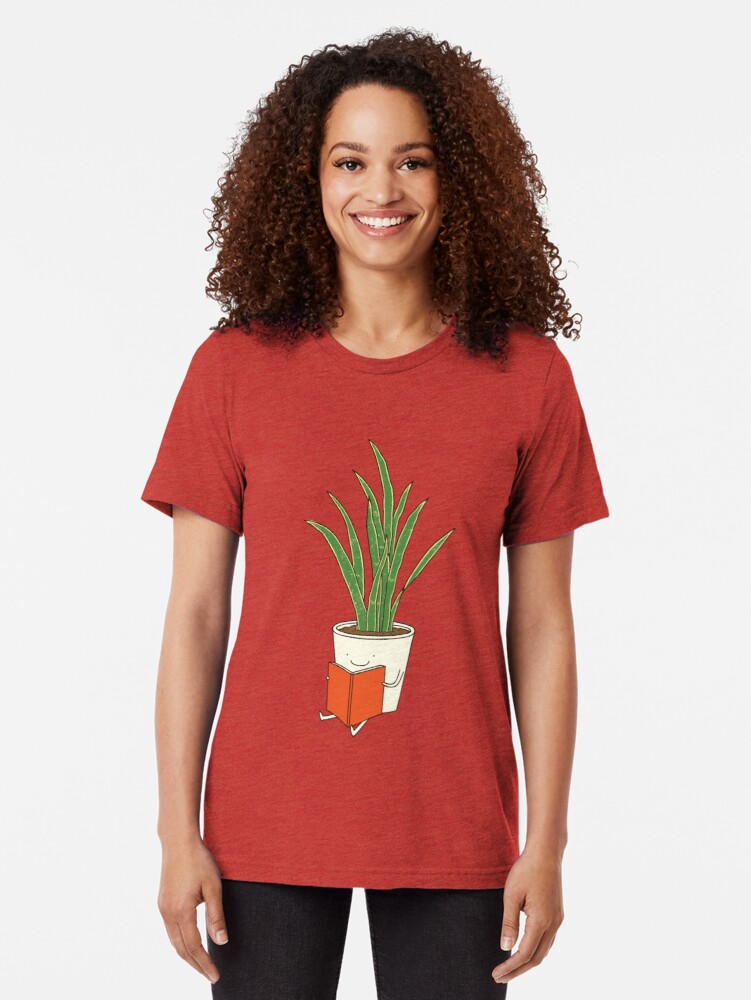 Alternate view of Indoor plant Tri-blend T-Shirt
