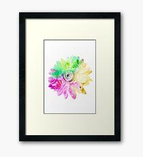 Lámina enmarcada Flor abstracta 1