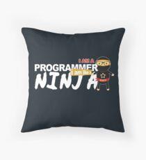 programmer : i am a programmer. i am like a ninja Floor Pillow