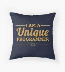 programmer : i am a unique programmer Throw Pillow