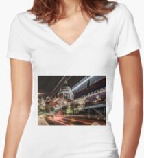 London Traffic Women's Fitted V-Neck T-Shirt