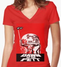 DAWN OF THE FETT Women's Fitted V-Neck T-Shirt