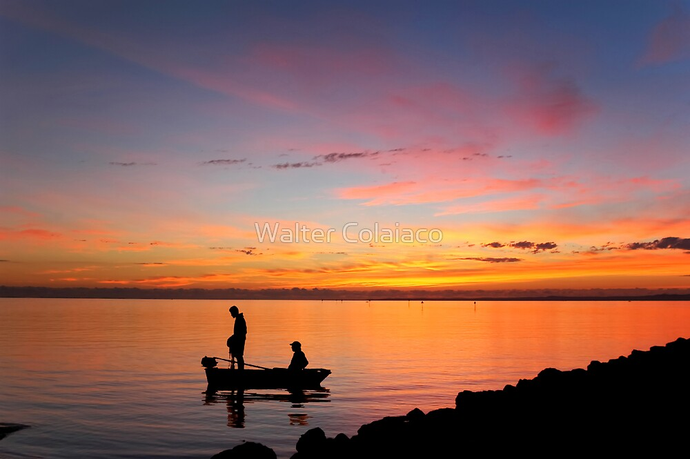 Early Fishermen by Walter Colaiaco