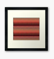 Strawberries abstract II Framed Print