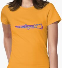 Stylish Clarinet Made Of Crayon,  Musical Instrument Design For Men And Women Women's Fitted T-Shirt