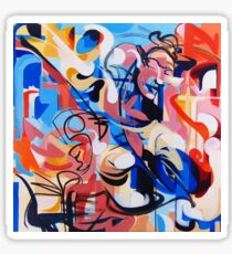 Expressive Abstract People Composition painting Sticker