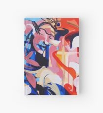Expressive Abstract People Composition painting Hardcover Journal