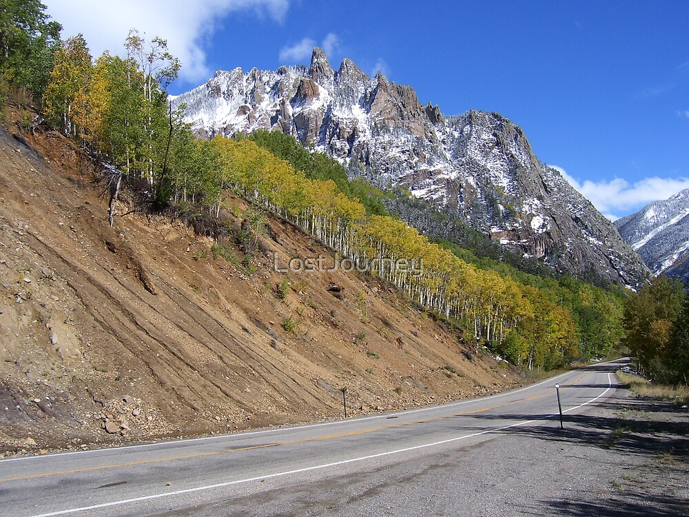 Shark Tooth Ridge and Its Mountain Road by LostJourney