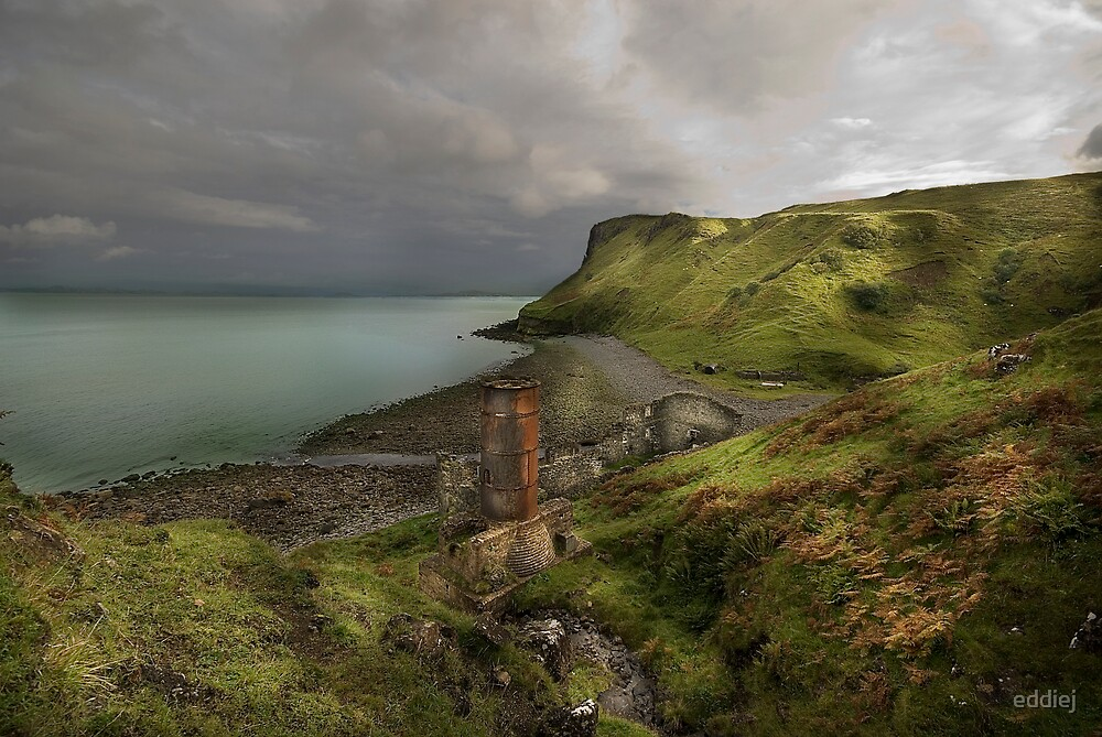 Diatomite mine - Isle of Skye by eddiej
