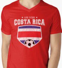 6f70d5ab2e0 2018 Costa Rica Soccer Futbol World Soccer Flag Men s V-Neck T-Shirt