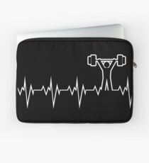 Powerlifting Olympic Weightlifting Heart Beat Laptop Sleeve