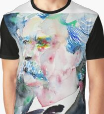MARK TWAIN - watercolor portrait.5 Graphic T-Shirt