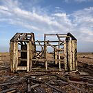 Camber Sands: Beach Hut Ruin by AntSmith