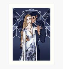 Kosmische Paare Kunstdruck