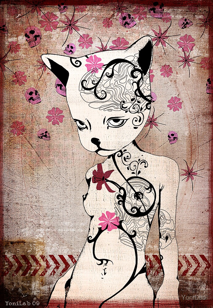 Kitten In Bad by YoniLab