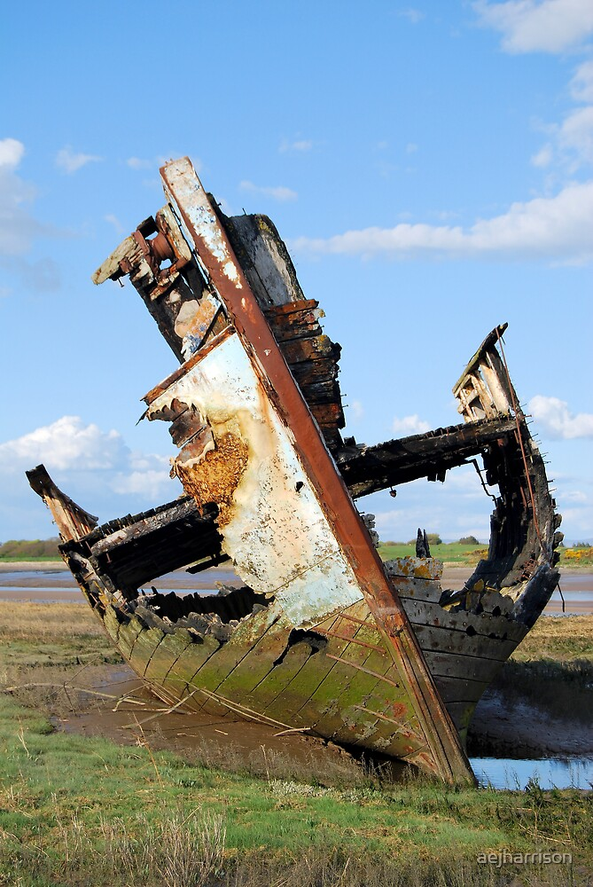 Abandoned Boat by aejharrison