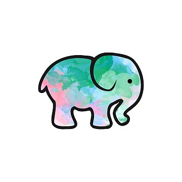 watercolor elephant design by MiaNotMaya