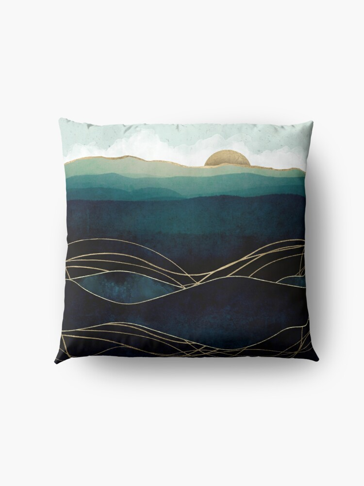 Alternate view of Indigo Waters Floor Pillow