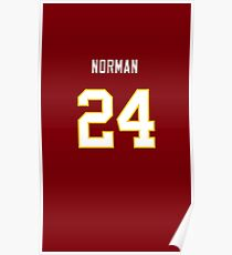 Redskins Home Jersey Norman Phone Case Poster