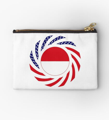 Monacan American Multinational Patriot Flag Series Zipper Pouch