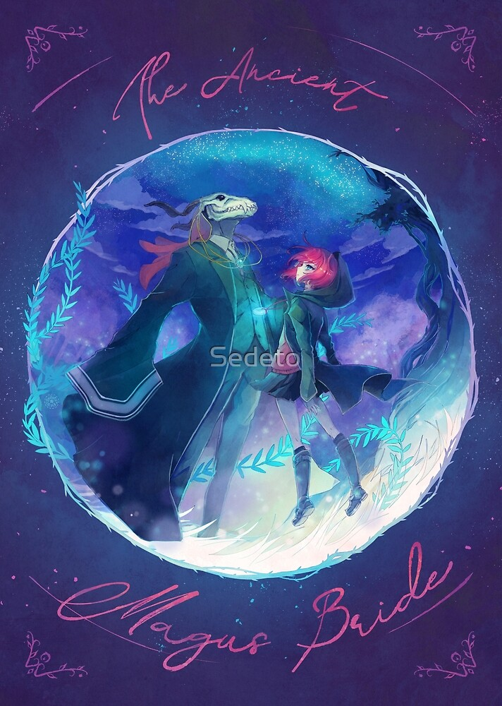 « The Ancient Magus Bride - Mahoutsukai no Yome typo poster » par Sedeto