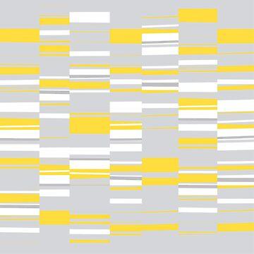 Mosaic Rectangles in Yellow Gray White #pattern #design #redbubble #decor by MenegaSabidussi