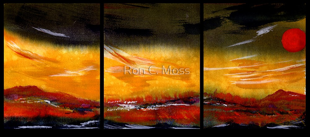Mountain Fire - Black Saturday by Ron C. Moss