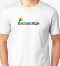 Fire Island - New York. Slim Fit T-Shirt