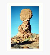Balancing Rock, Utah Art Print