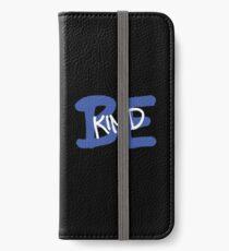 Be Kind Slogan Graffiti / Hip Hop style (Dark Blue) iPhone Wallet/Case/Skin