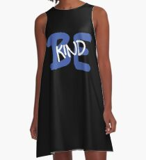 Be Kind Slogan Graffiti / Hip Hop style (Dark Blue) A-Line Dress