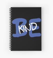 Be Kind Slogan Graffiti / Hip Hop style (Dark Blue) Spiral Notebook