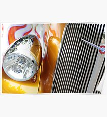 Hotrod Headlight Poster