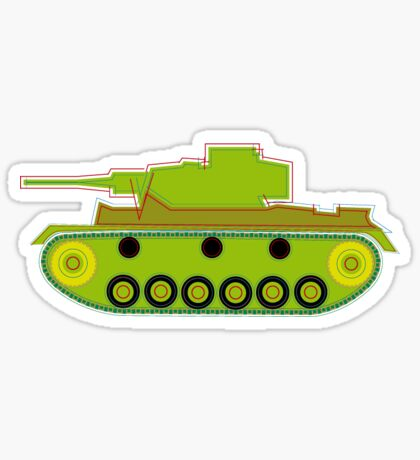 military tank silhouette funshirt for airsoft, paintball, gotcha and lasertag Sticker
