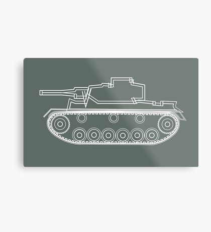 military tank silhouette funshirt for airsoft, paintball, gotcha and lasertag Metal Print