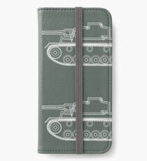 military tank silhouette funshirt for airsoft, paintball, gotcha and lasertag iPhone Wallet/Case/Skin