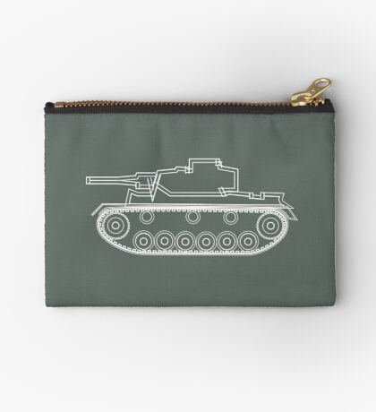 military tank silhouette funshirt for airsoft, paintball, gotcha and lasertag Studio Pouch