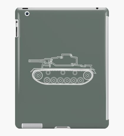 military tank silhouette funshirt for airsoft, paintball, gotcha and lasertag iPad Case/Skin