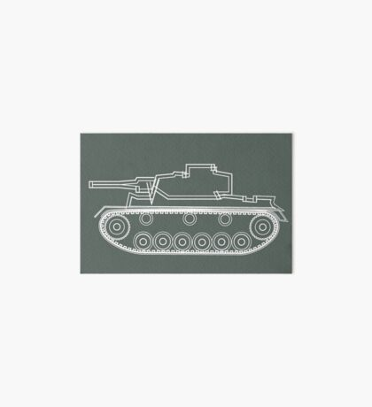 military tank silhouette funshirt for airsoft, paintball, gotcha and lasertag Art Board
