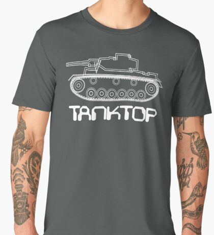 military tank silhouette funshirt for airsoft, paintball, gotcha and lasertag Men's Premium T-Shirt