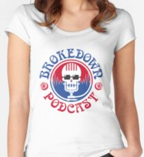 Brokedown Podcast Gear Women's Fitted Scoop T-Shirt