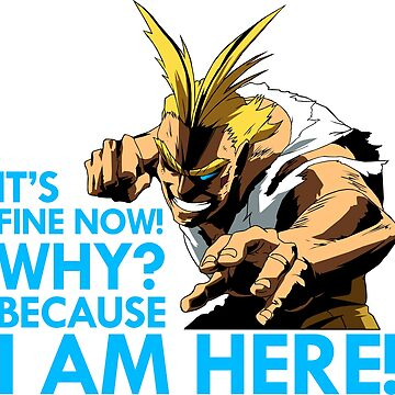 All Might - It's fine now! Why? Because I am here! - Color by Nagromxela