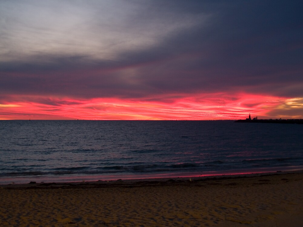 Fremantle Sunset by Adrian Lord