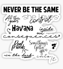 Camila Canciones Sticker