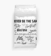 Camila Canciones Duvet Cover