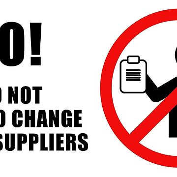 No, I do not want to change energy suppliers by gerryhaze