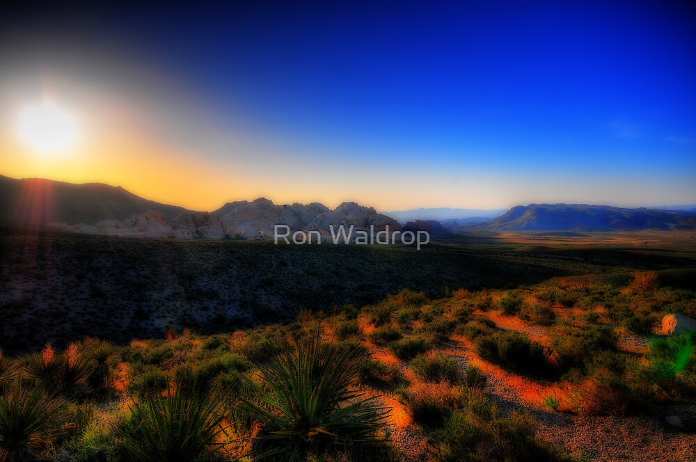 Red Rocks Canyon Sunrise by Ron Waldrop